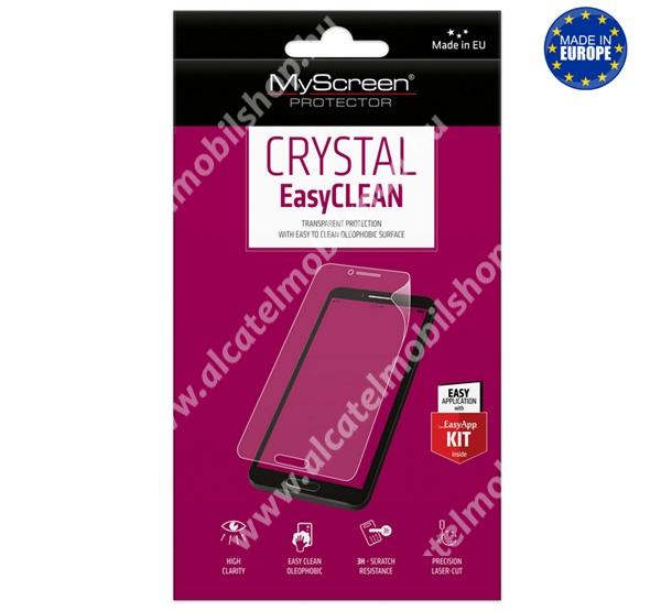 MYSCREEN képernyővédő fólia - Crystal Clear - 1db, törlőkendővel, A képernyő sík részét védi - HUAWEI Y8p / HUAWEI Enjoy 10s - GYÁRI