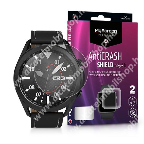 MyScreen Protector AntiCrash Shield Edge3D okosóra képernyővédő fólia - Ultra Clear, ÖNREGENERÁLÓ! - 2db, a teljes képernyőt védi - SAMSUNG Galaxy Watch3 45mm (SM-R845F) - GYÁRI