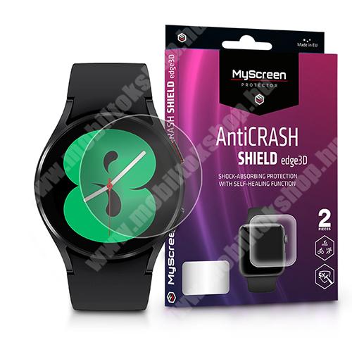 MyScreen Protector AntiCrash Shield Edge3D okosóra képernyővédő fólia - Ultra Clear, ÖNREGENERÁLÓ! - 2db, a teljes képernyőt védi - SAMSUNG Galaxy Watch4 40mm (SM-R860) - GYÁRI