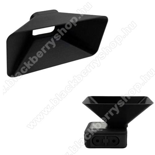 Napellenző / lencsevédő burkolat GoPro Hero 9-hez - műanyag, 10 x 8 x 5cm - FEKETE