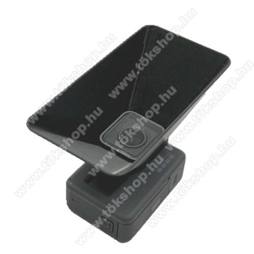 Napellenző / lencsevédő burkolat GoPro Hero 5 / 6 / 7-hez - műanyag, 10 x 8 x 5cm - FEKETE