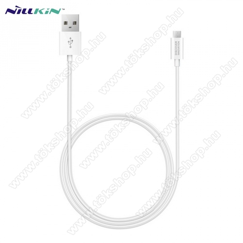 NILLKIN adatátvitel adatkábel / USB töltõ - microUSB / USB - 1m hosszú, gumírozott kábelkivitel, gyorstöltés támogatás - FEHÉR - GYÁRI