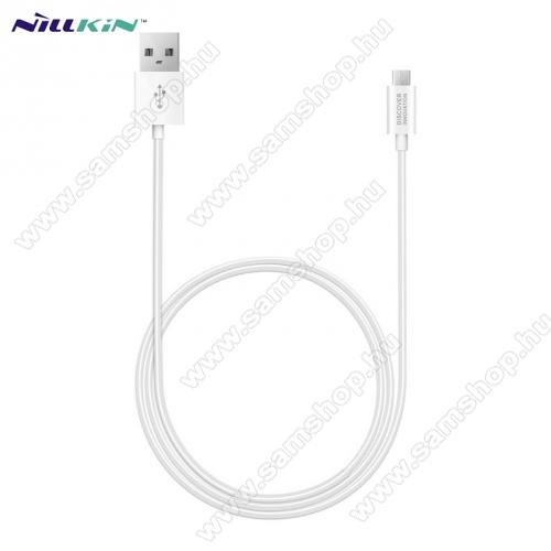 SAMSUNG GT-S5630CNILLKIN adatátvitel adatkábel / USB töltõ - microUSB / USB - 1m hosszú, gumírozott kábelkivitel, gyorstöltés támogatás - FEHÉR - GYÁRI