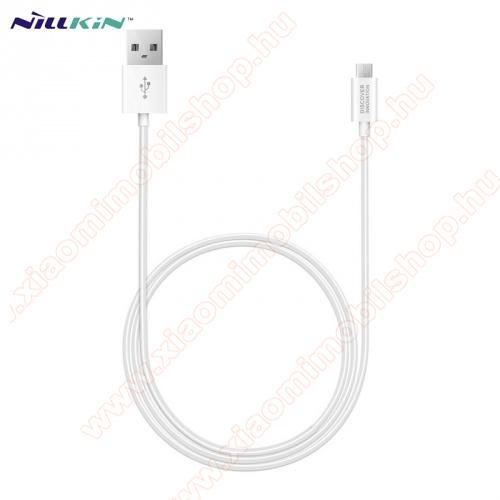 Xiaomi Mi PlayNILLKIN adatátvitel adatkábel / USB töltõ - microUSB / USB - 1m hosszú, gumírozott kábelkivitel, gyorstöltés támogatás - FEHÉR - GYÁRI