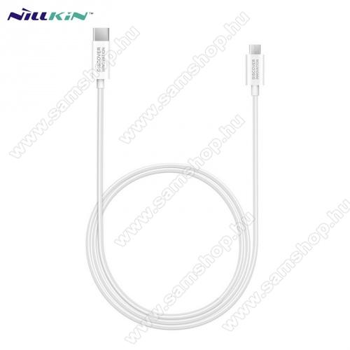 SAMSUNG GT-S5630CNILLKIN adatátvitel adatkábel / USB töltõ - Type-C / microUSB - 1m hosszú, gumírozott kábelkivitel, gyorstöltés támogatás - FEHÉR - GYÁRI