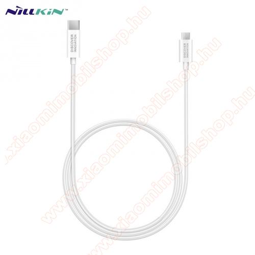 Xiaomi Mi PlayNILLKIN adatátvitel adatkábel / USB töltõ - Type-C / microUSB - 1m hosszú, gumírozott kábelkivitel, gyorstöltés támogatás - FEHÉR - GYÁRI