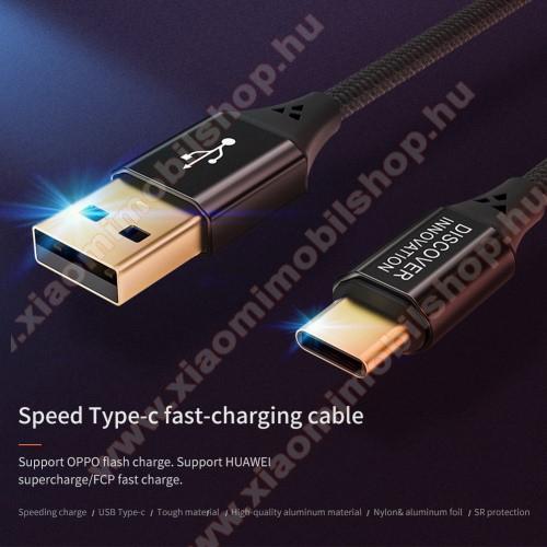 Xiaomi Redmi Note 7NILLKIN adatátviteli kábel / USB töltő - USB 3.1 Type C, 5A, 1m, szövettel bevont, gyorstöltés támogatás - FEKETE - GYÁRI