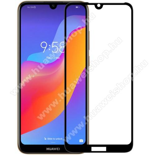 NILLKIN AMAZING CP+ előlap védő karcálló edzett üveg - FEKETE - 9H, 0,3mm - A TELJES KIJELZŐT VÉDI! - HUAWEI Y6 (2019) / HUAWEI Y6 Prime (2019) / HUAWEI Y6 Pro (2019) / HUAWEI Honor Play 8A /  HUAWEI Honor 8A / Y6s (2019) - GYÁRI