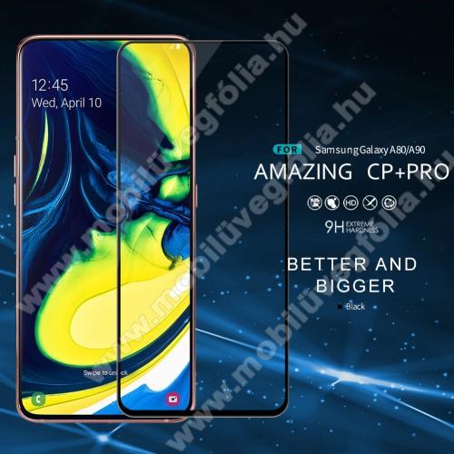 NILLKIN AMAZING CP+ PRO előlap védő karcálló edzett üveg - FEKETE - 9H, 0,3mm - A TELJES KIJELZŐT VÉDI! - SAMSUNG SM-A805F Galaxy A80 / SAMSUNG SM-A905F Galaxy A90 - GYÁRI