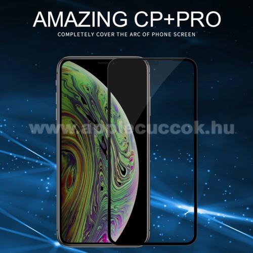 NILLKIN AMAZING CP+ PRO előlap védő karcálló edzett üveg - FEKETE - 9H, 0,3mm - A TELJES KIJELZŐT VÉDI! - APPLE iPhone 11 - GYÁRI