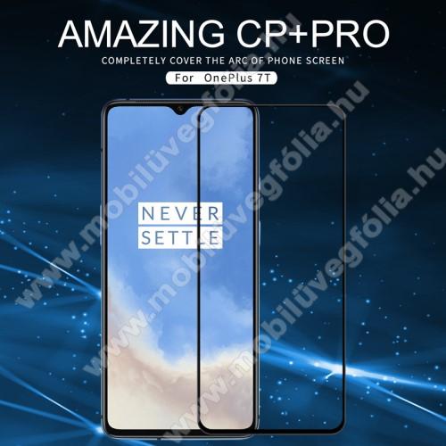 NILLKIN AMAZING CP+PRO előlap védő karcálló edzett üveg - FEKETE - 9H, 0,3mm - A TELJES KIJELZŐT VÉDI! - OnePlus 7T - GYÁRI