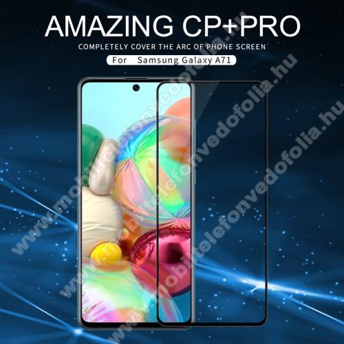 NILLKIN AMAZING CP+PRO előlap védő karcálló edzett üveg - FEKETE - 9H, 0,3mm, A teljes felületén tapad! - A TELJES KIJELZŐT VÉDI! - SAMSUNG SM-A715F Galaxy A71 / SAMSUNG SM-N770F Galaxy Note10 Lite - GYÁRI