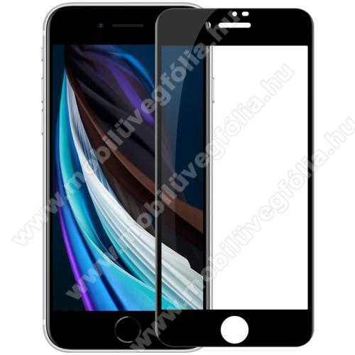 NILLKIN AMAZING CP+PRO előlap védő karcálló edzett üveg - FEKETE - 9H, 0,3mm, A teljes felületén tapad! - A TELJES KIJELZŐT VÉDI! - - APPLE iPhone SE (2020) / APPLE iPhone 7 / APPLE iPhone 8 / APPLE iPhone 6 / APPLE iPhone 6S - GYÁRI
