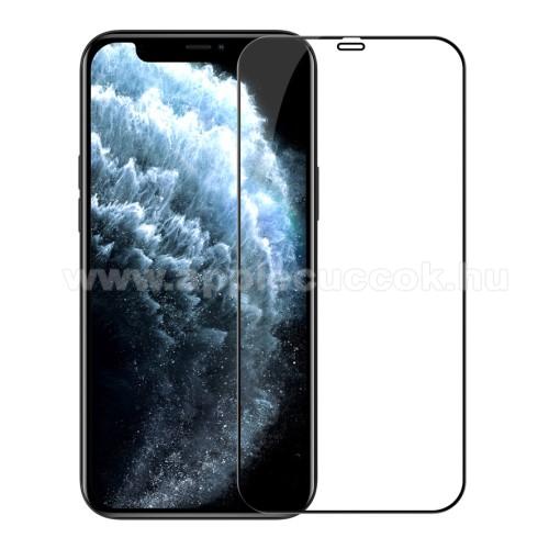 APPLE iPhone 12 Pro MaxNILLKIN AMAZING CP+PRO előlap védő karcálló edzett üveg - FEKETE - 9H, 0,3mm, A teljes felületén tapad! - A TELJES KIJELZŐT VÉDI! - APPLE iPhone 12 Pro Max - GYÁRI
