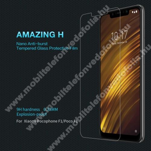 NILLKIN Amazing H előlap védő karcálló edzett üveg - 0.33mm, 9H - Xiaomi Pocophone F1 - GYÁRI