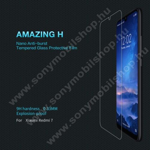 NILLKIN Amazing H előlap védő karcálló edzett üveg - 0.33mm, 9H, A képernyő sík részét védi - Xiaomi Redmi 7 / Xiaomi Redmi Y3 - GYÁRI