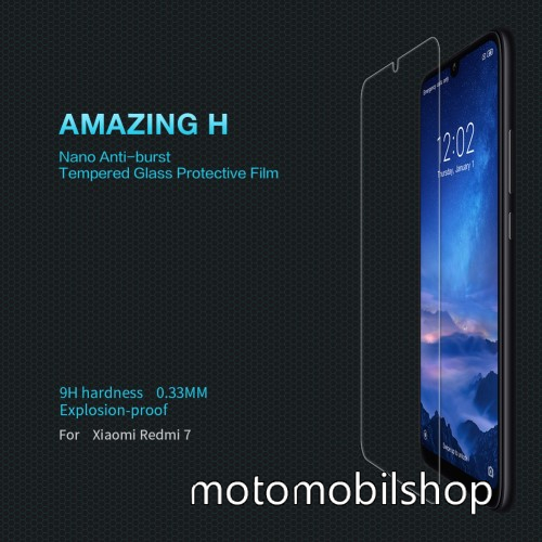 NILLKIN Amazing H előlap védő karcálló edzett üveg - 0.33mm, 9H - Xiaomi Redmi 7 / Xiaomi Redmi Y3 - GYÁRI