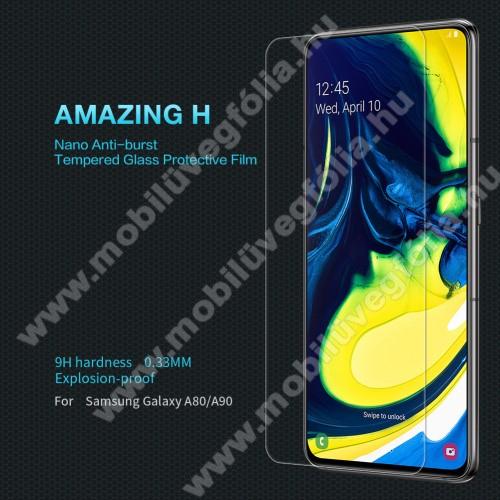 NILLKIN Amazing H előlap védő karcálló edzett üveg - 0.33mm, 9H - SAMSUNG SM-A805F Galaxy A80 / SAMSUNG SM-A905F Galaxy A90 - GYÁRI