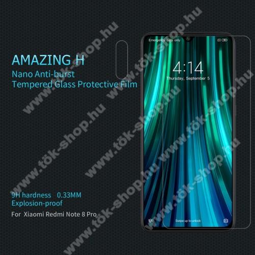 NILLKIN Amazing H előlap védő karcálló edzett üveg - 0.33mm, 9H, A képernyő sík részét védi - Xiaomi Redmi Note 8 Pro - GYÁRI