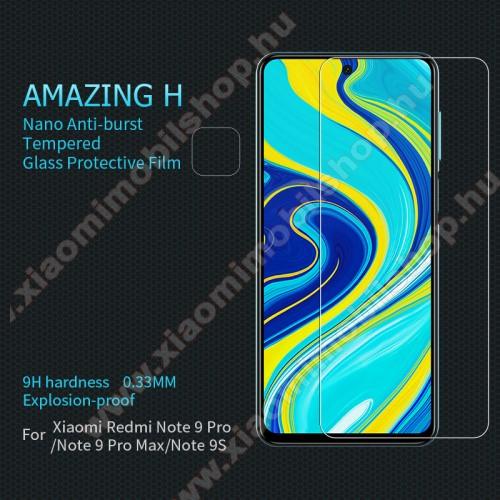 NILLKIN Amazing H előlap védő karcálló edzett üveg - 0.33mm, 9H, A képernyő sík részét védi - Xiaomi Redmi Note 9S / Xiaomi Redmi Note 9 Pro / Xiaomi Redmi Note 9 Pro Max - GYÁRI