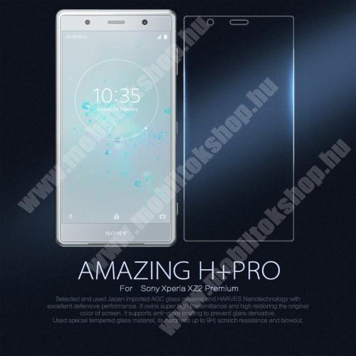 NILLKIN Amazing H+ PRO előlap védő karcálló edzett üveg, 0.2mm, 9H - SONY Xperia XZ2 Premium (2018) - GYÁRI