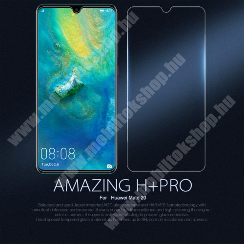 NILLKIN Amazing H+PRO előlap védő karcálló edzett üveg - 0.2mm, 9H - HUAWEI Mate 20 - GYÁRI