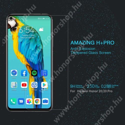 NILLKIN Amazing H+PRO előlap védő karcálló edzett üveg - 0.2mm, 9H, A képernyő sík részét védi - HUAWEI Honor 20 / HUAWEI Honor 20 Pro - GYÁRI