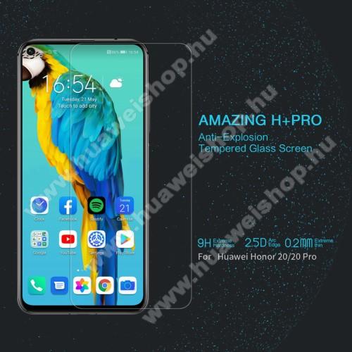 HUAWEI Honor 20 ProNILLKIN Amazing H+PRO előlap védő karcálló edzett üveg - 0.2mm, 9H, A képernyő sík részét védi - HUAWEI Honor 20 / HUAWEI Honor 20S / HUAWEI nova 5T/ HUAWEI Honor 20 Pro - GYÁRI