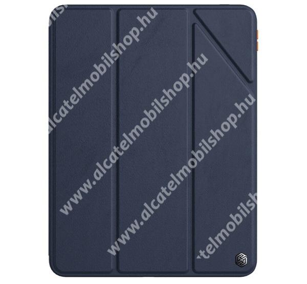 NILLKIN BEVEL notesz / mappa tok - KÉK - oldalra nyíló aktív flip cover, asztali tartó funkciós, szilikon belső, ceruzatartó - APPLE iPad Pro 11 (2020) / iPad Pro 11 (2021) - GYÁRI