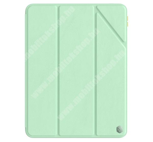 NILLKIN BEVEL notesz / mappa tok - ZÖLD - oldalra nyíló aktív flip cover, asztali tartó funkciós, szilikon belső, ceruzatartó - APPLE iPad Pro 11 (2020) / iPad Pro 11 (2021) - GYÁRI