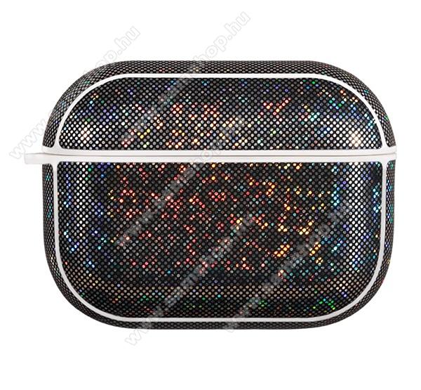NILLKIN bőr hatású tok csillogó Apple AirPods Pro-hoz - FEKETE - GYÁRI