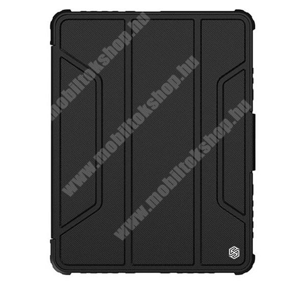 NILLKIN BUMPER PRO notesz / mappa tok - FEKETE - oldalra nyíló flip cover, szilikon belső, asztali tartó funkciós, mágneses záródás, ceruzatartó - APPLE iPad Pro 11 (2020) / iPad Pro 11 (2021) / iPad Pro 11 (2021) - GYÁRI