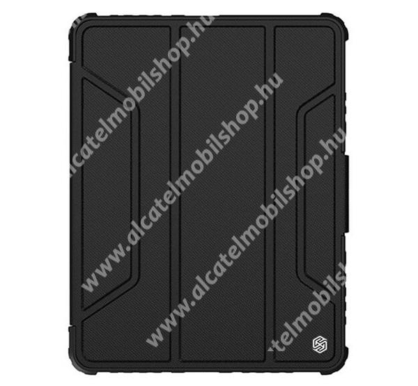 NILLKIN BUMPER PRO notesz / mappa tok - FEKETE - oldalra nyíló flip cover, szilikon belső, asztali tartó funkciós, mágneses záródás, ceruzatartó - APPLE iPad Pro 11 (2020) / iPad Pro 11 (2021) - GYÁRI
