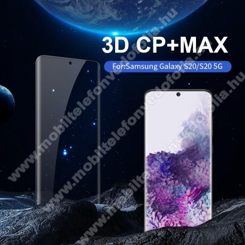 NILLKIN CP+MAX előlap védő karcálló edzett üveg - 0,3mm, 9H - FEKETE - A TELJES KIJELZŐT VÉDI! - SAMSUNG Galaxy S20 (SM-G980F) / SAMSUNG Galaxy S20 5G (SM-G981) - GYÁRI