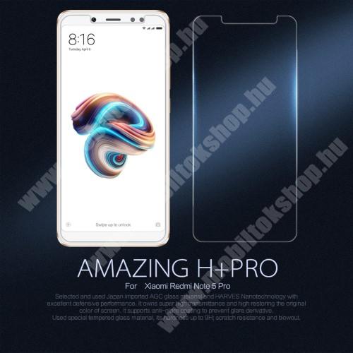 NILLKIN előlap védő karcálló edzett üveg, Amazing H+ PRO, 2.5D - Xiaomi Redmi Note 5 Pro (Global version) - GYÁRI