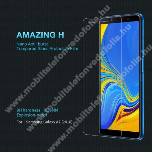 SAMSUNG SM-A750F Galaxy A7 (2018)NILLKIN előlap védő karcálló edzett üveg, Amazing H - 0,33mm 9H - SAMSUNG SM-A750F Galaxy A7 (2018) - GYÁRI