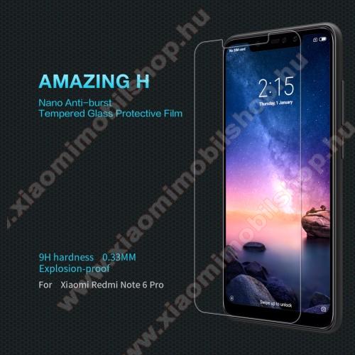 NILLKIN előlap védő karcálló edzett üveg, Amazing H - 9H, 0,33mm - Xiaomi Redmi Note 6 Pro - GYÁRI