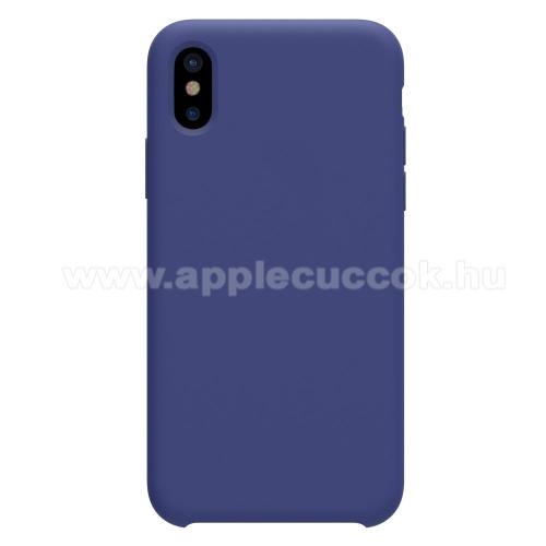 NILLKIN FLEX PURE szilikontok - KÉK - Apple iPhone X 5.8, Apple iPhone XS 5.8 - GYÁRI