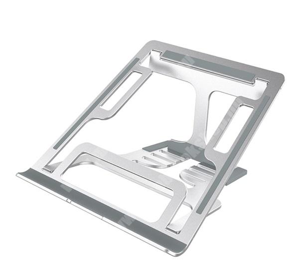 """PRESTIGIO MultiPad 8.0 PRO DUO NILLKIN FLEXDESK asztali tartó - alumínium, csúszásgátló talp, univerzális, állítható, hordozható, 11-17"""" méret - EZÜST - GYÁRI"""