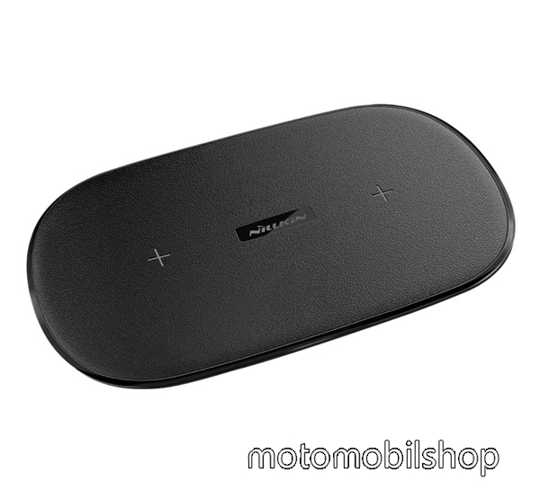 MOTOROLA Moto X Style NILLKIN Gemini Dual Fast hálózati töltő állomás (2 készülék egyidejű töltésére, vezeték nélküli töltés,QI Wireless, gyorstöltés támogatás) FEKETE - MC031 - GYÁRI
