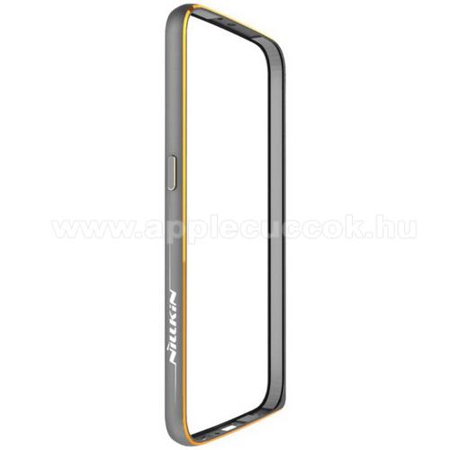 NILLKIN Gothic Border Series m?anyag v�d? keret / bumper - SZ�RKE - SAMSUNG SM-G920 Galaxy S6 - GY�RI