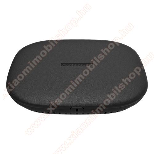 NILLKIN hálózati töltő állomás (vezeték nélküli töltés, QI Wireless, gyorstöltés támogatás, karbonminta, fogadóegység nélkül!, 15W (Max)) FEKETE - GYÁRI