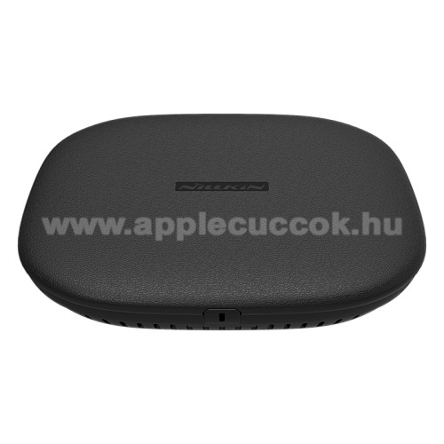 Apple Airpods MV7N2ZM/ANILLKIN hálózati töltő állomás (vezeték nélküli töltés, QI Wireless, gyorstöltés támogatás, karbonminta, fogadóegység nélkül!, 15W (Max)) FEKETE - GYÁRI