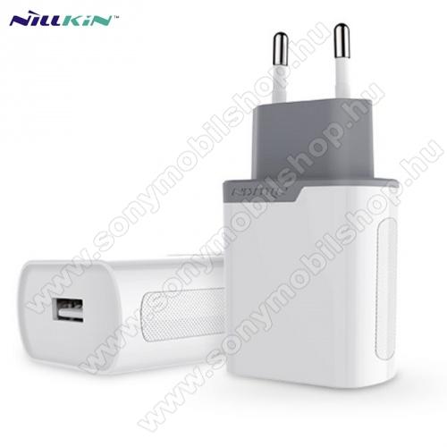 SONY Xperia M DUALNILLKIN hálózati töltő USB aljzat (5V / 2000 mA, gyorstöltés támogatás, kábel nélkül) FEHÉR - GYÁRI