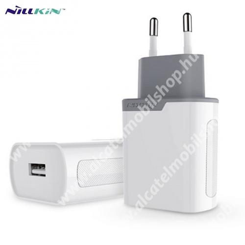 ALCATEL OTE 301 NILLKIN hálózati töltő USB aljzat (5V / 2000 mA, gyorstöltés támogatás, kábel nélkül) FEHÉR - GYÁRI