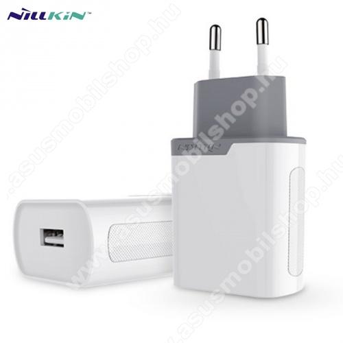ASUS Zenfone 2 Laser (ZE500KL)NILLKIN hálózati töltő USB aljzat (5V / 2000 mA, gyorstöltés támogatás, kábel nélkül) FEHÉR - GYÁRI