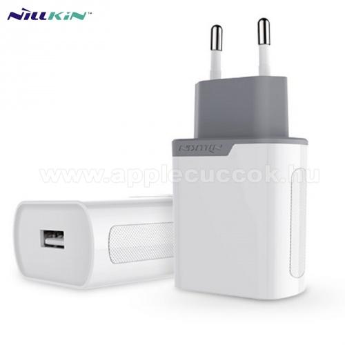 APPLE iPhone 6NILLKIN hálózati töltő USB aljzat (5V / 2000 mA, gyorstöltés támogatás, kábel nélkül) FEHÉR - GYÁRI