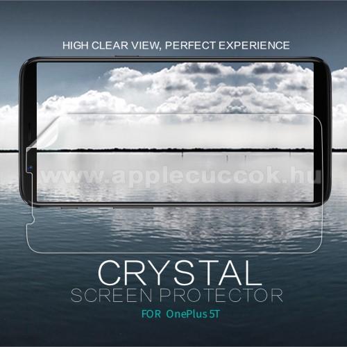 NILLKIN k�perny?v�d? f�lia - Crystal Clear - 1db, t�rl?kend?vel - OnePlus 5T - GY�RI