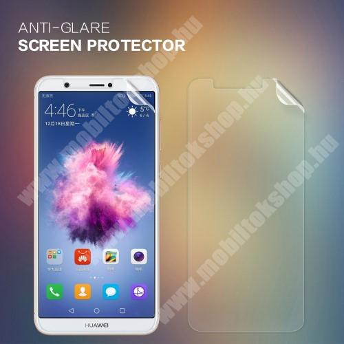 HUAWEI Enjoy 7S NILLKIN képernyővédő fólia - Anti Glare - 1db, törlőkendővel - HUAWEI P Smart / HUAWEI Enjoy 7S - GYÁRI