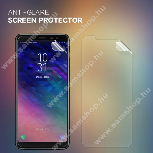 SAMSUNG Galaxy A8 Plus (2018) (SM-A730F)NILLKIN képernyővédő fólia - Anti Glare - 1db, törlőkendővel - SAMSUNG Galaxy A8 Plus (2018) - GYÁRI